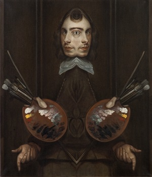 self-portrait with mullet (after willeboirts) by matthew hansel