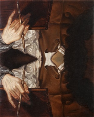 self-portrait as narcissus (after zoffany) by matthew hansel