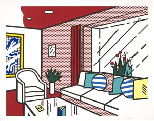 living room by roy lichtenstein