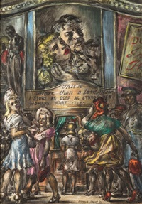 off to the movies, love affair is playing! by reginald marsh