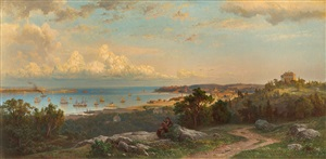 view of the narrows from brighton heights, staten island by herman fuechsel