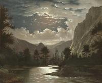 moonlit river gorge by fortunato arriola