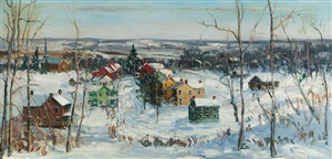 sellersville in snow by walter emerson baum