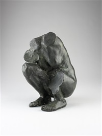 torso of a crouching woman by camille claudel