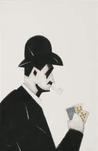 jugador cartas by manolo valdés