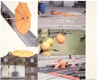 orange floats (runts) by robert rauschenberg