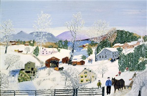 logging by grandma moses