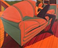 sondra on sofa by jack beal