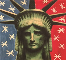 lady liberty head by steve kaufman