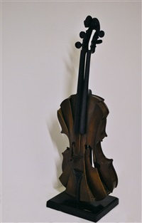 violon coupé iii by arman
