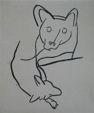 studies of the artist's dog louve by fernand léger