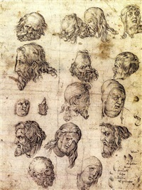 head studies after durer by german school (16)