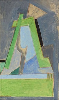 vorticist composition by lawrence atkinson