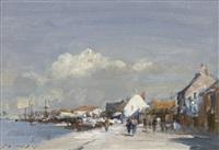 sunlit quay by edward seago