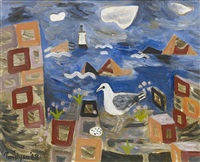 seagull and lighthouse by julian trevelyan