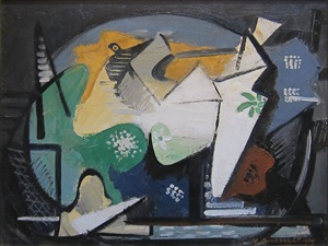 untitled (cubist composition) by hans gustav burkhardt