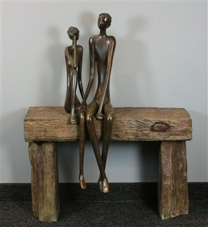 couple on bench by ruth bloch
