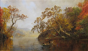 a river outing by jasper francis cropsey