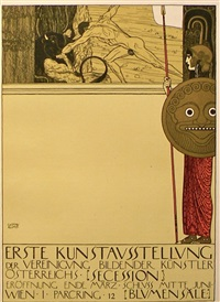 first viennese secessionist poster, uncensored by gustav klimt