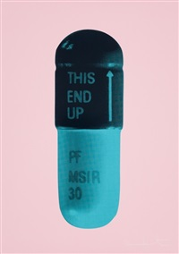 the cure - bubblegum pink/payne's grey/iceberg blue by damien hirst