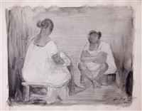 mujeres platicando by fernando castro pacheco