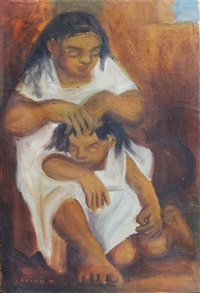 mujer y niño by fernando castro pacheco