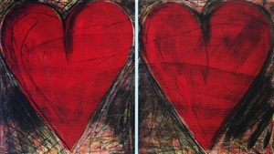 the pale blue line by jim dine