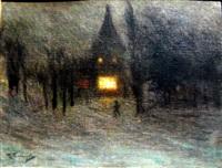 winter night by pavel varfolomeevich kuznetsov