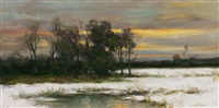 winter light (sold) by dennis sheehan