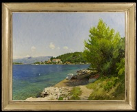 a view of the estuary at vrnik, croatia by marc dalessio