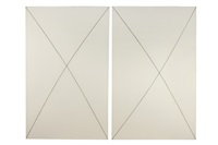 curved line x set (diptych) by robert mangold