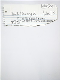 truth drawing #3 by michael scoggins