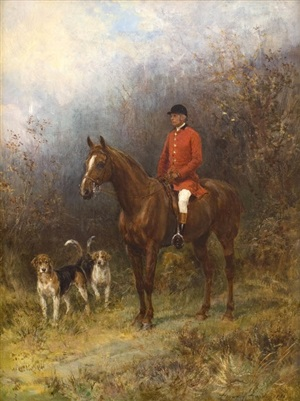 huntsman and hounds by heywood hardy
