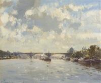 the bridge at saint ouen by edward seago