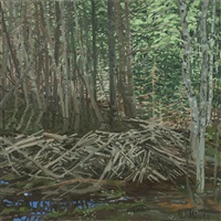 study for beaver dam by neil welliver