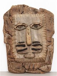 lion's head #2 by bernard langlais
