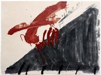 negre i roig (aus quatre ditades) by antoni tàpies