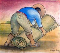 cargador de petates by diego rivera