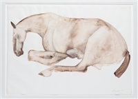 untitled (lying down horse) by elisabeth frink