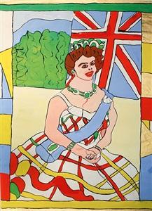 queen elizabeth ii von england sitzend by josef wittlich