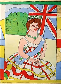 queen elizabeth ii. von england sitzend by josef wittlich