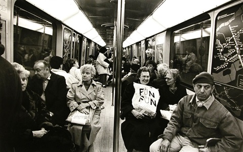 fun fun montreal metro 1987 george s zimbel courtesy of stephen bulger gallery