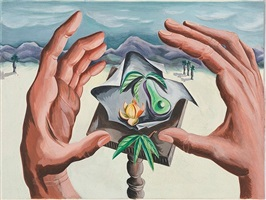 untitled (still life with hands, st. johns) by dorothy dehner