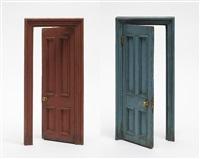 small door (terracotta & blue) by gavin turk