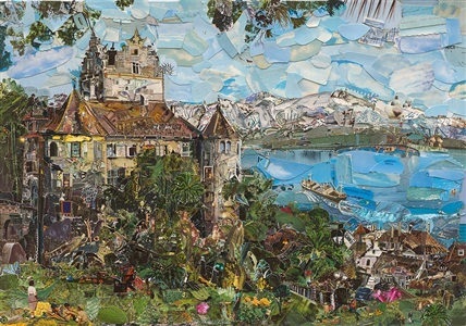 switzerland postcards from nowhere by vik muniz
