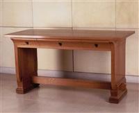 bureau en chêne à trois tiroirs by armand-albert rateau