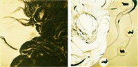 wind and thunder gods by yoshitaka amano