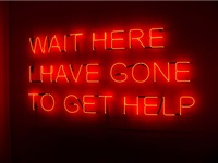 wait here by tim etchells