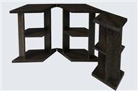 table modulable en placage de palmier à trois éléments articulés by eugene printz