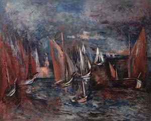 port joinville à l'île d'yeu by jean dufy